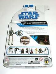 ig-86 assassin droid no. 18 star wars the clone wars basic action figures blue white card 2008 hasbro mosc b