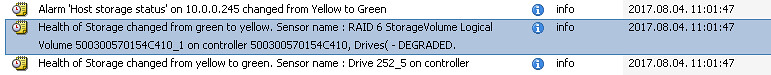 RAID6 DEGRADED