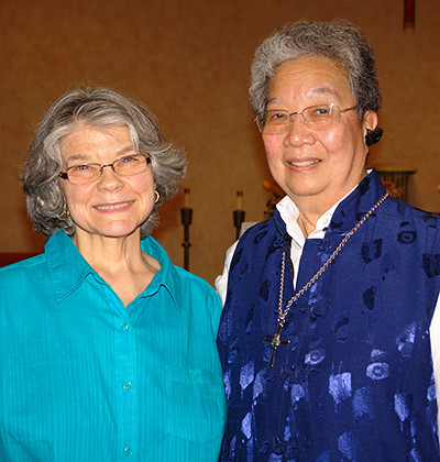 Maureen and Sister Jacqueline Fernandes, superior at St. Joseph Residence