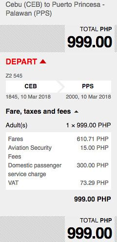 Cebu to Puerto Princesa AirAsia Promo March 10, 2018