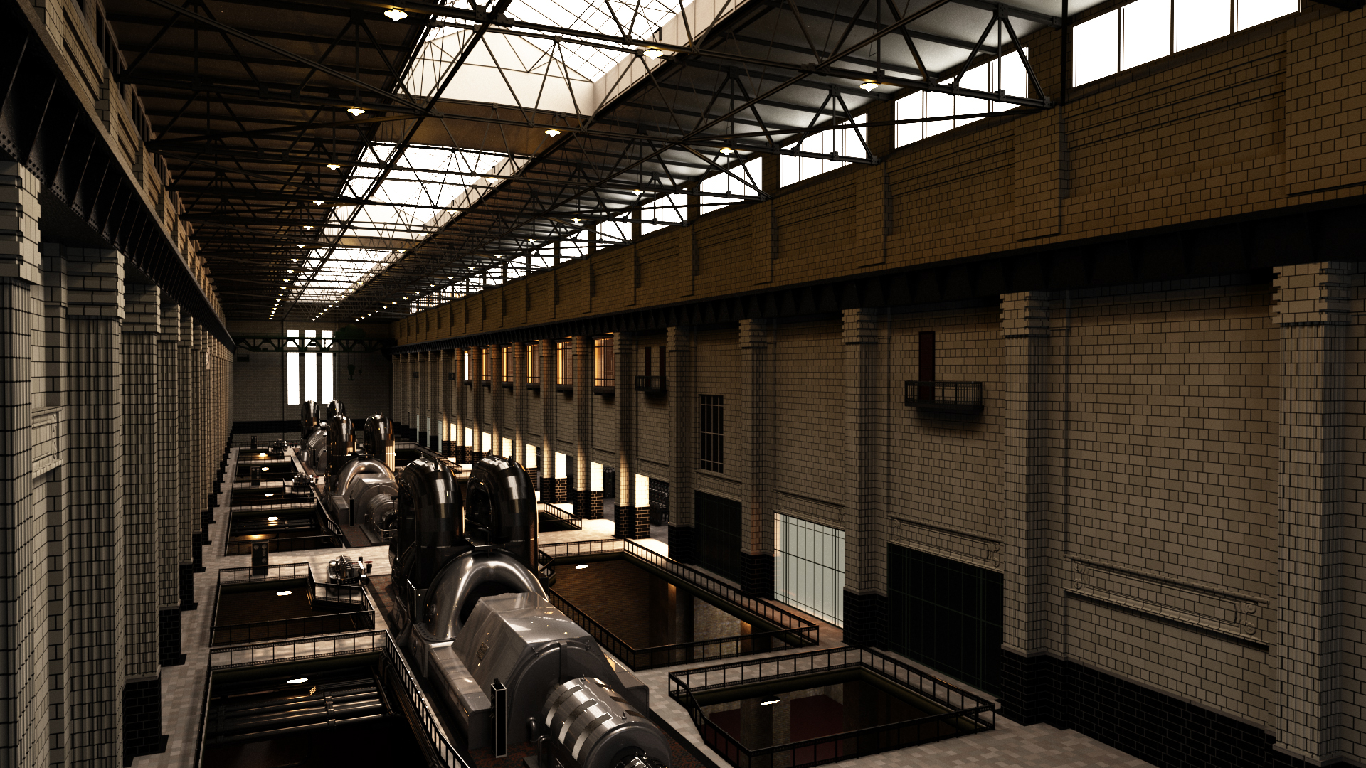 Turbine hall A test render
