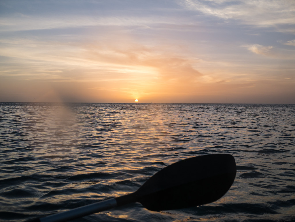 Sunset from a kayak