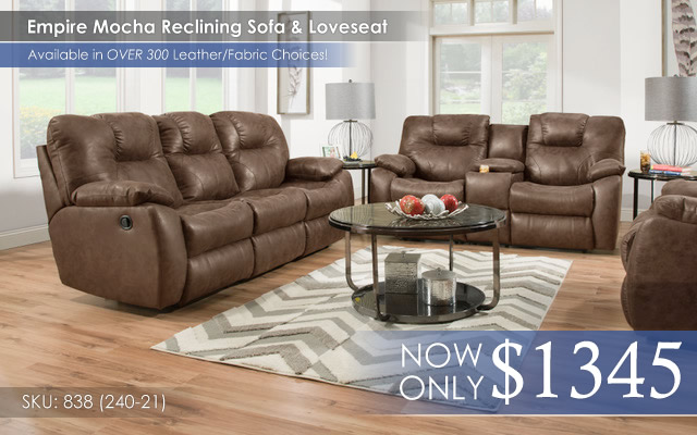 Empire Mocha Reclining Set 828 -240-21
