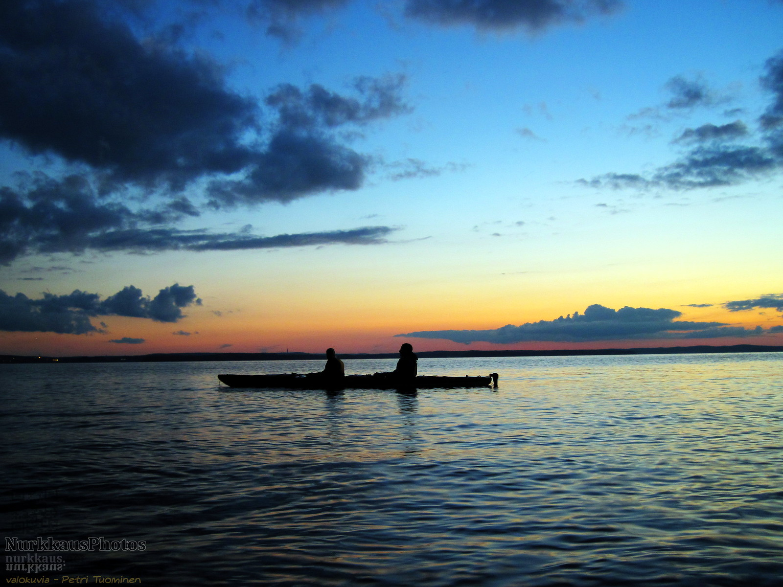 Paddlers at sunrise