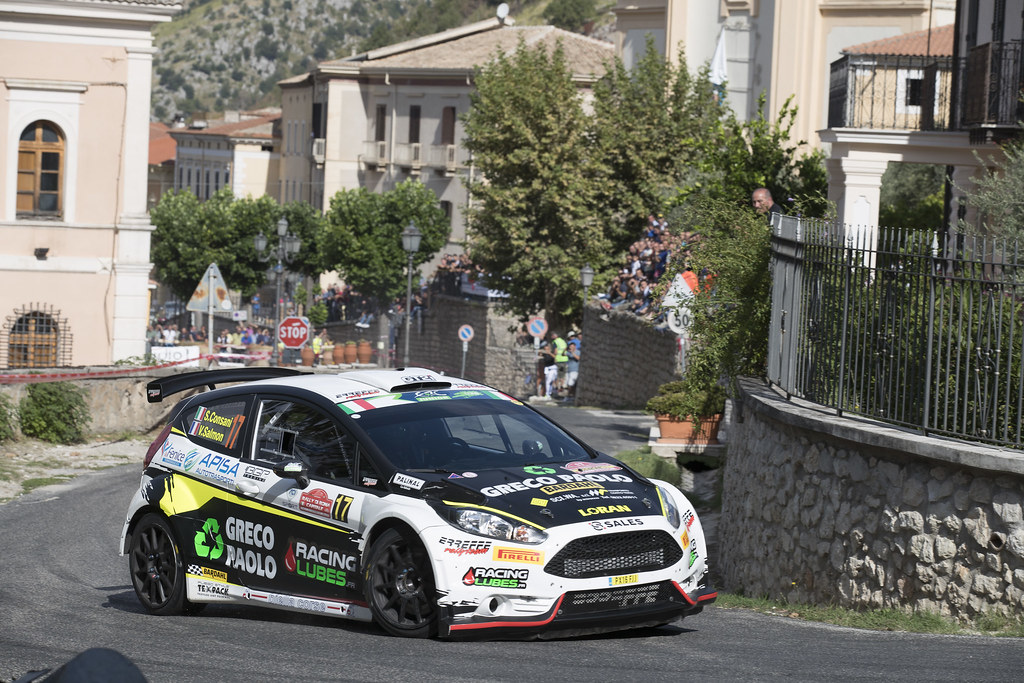 17 CONSANI Stephane (FRA) SALMON Valentin (FRA) Ford Fiesta R5 action during the 2017 European Rally Championship ERC Rally di Roma Capitale,  from september 15 to 17 , at Fiuggi, Italia - Photo Gregory Lenormand / DPPI