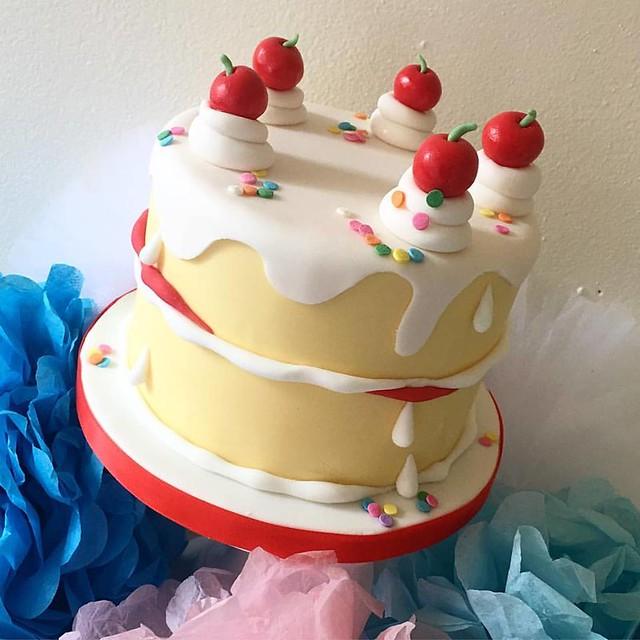 Cake by Blue Door Bakery