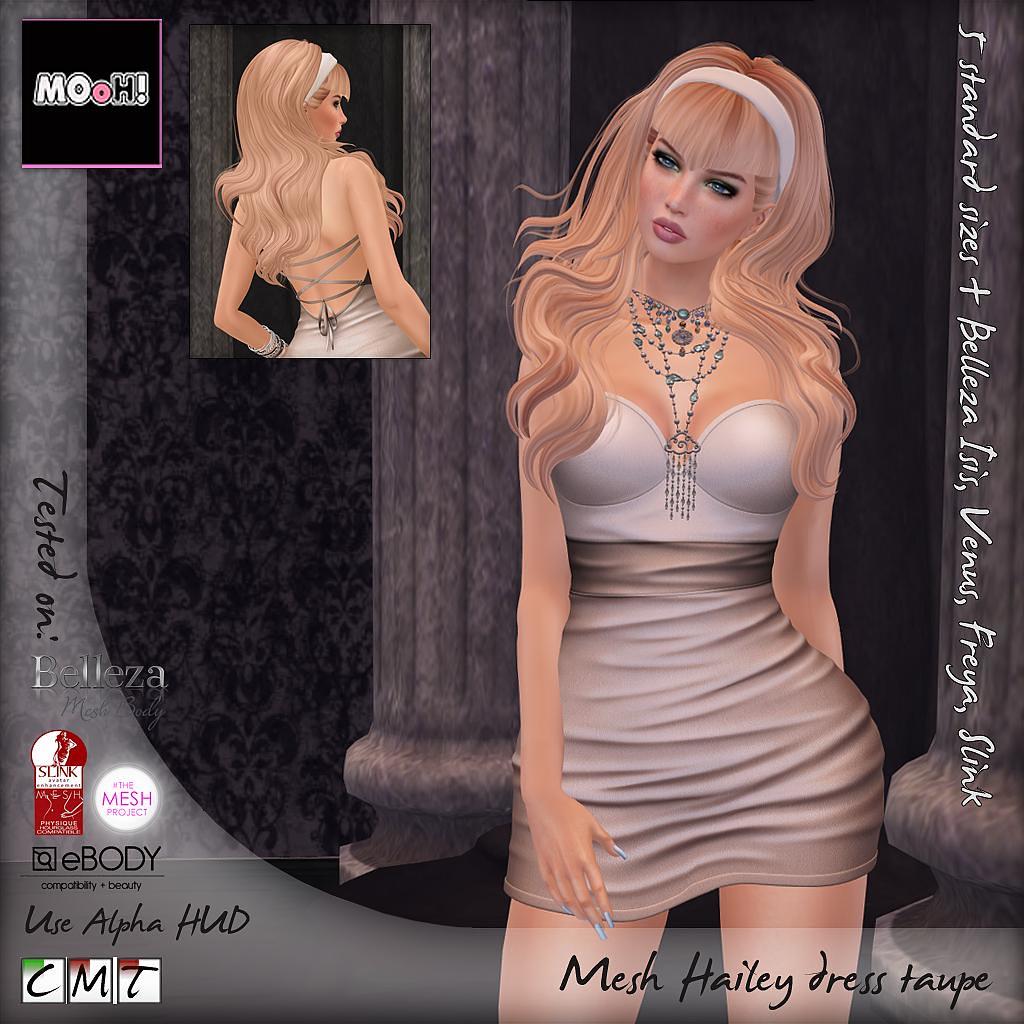 Hailey dress taupe - SecondLifeHub.com