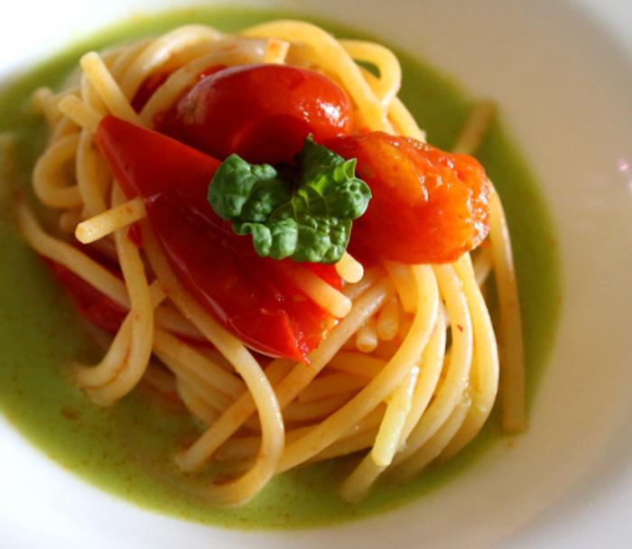 spaghetto temprato ai due pomodori