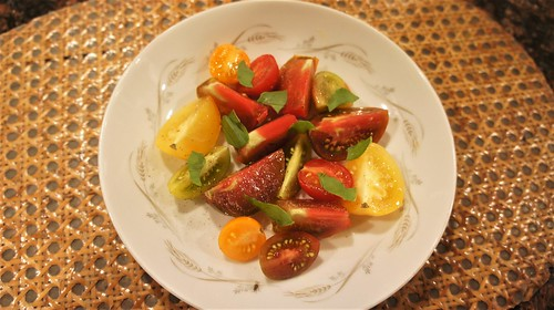At Home: Heirloom Tomato Salad