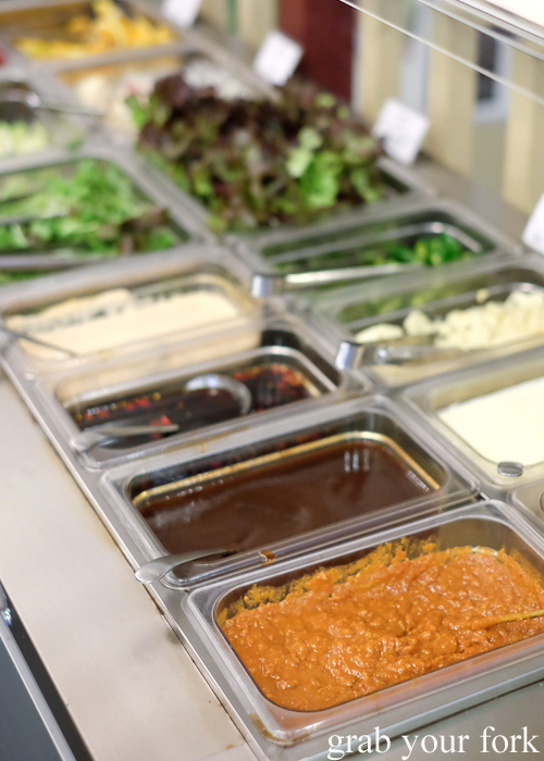 Condiments and dipping sauces at Yass Korean BBQ Buffet in Strathfield Sydney