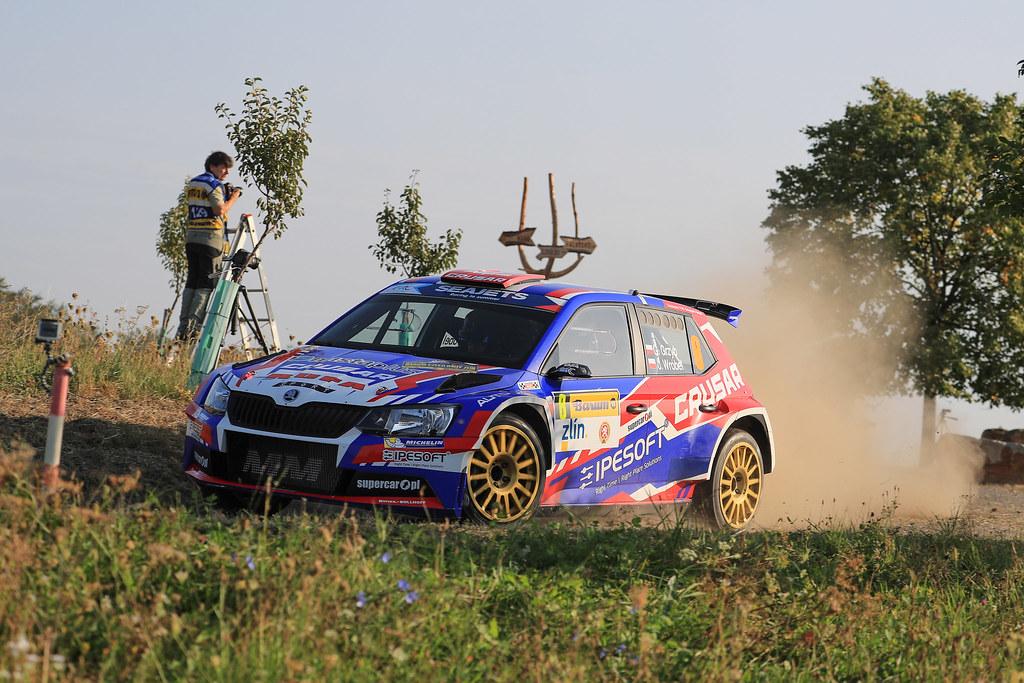 08 GRZYB Grzegorz (POL) BROWINSKI Bogusław (POL) Skoda Fabia R5 action during the 2017 European Rally Championship ERC Barum rally,  from August 25 to 27, at Zlin, Czech Republic - Photo Jorge Cunha / DPPI