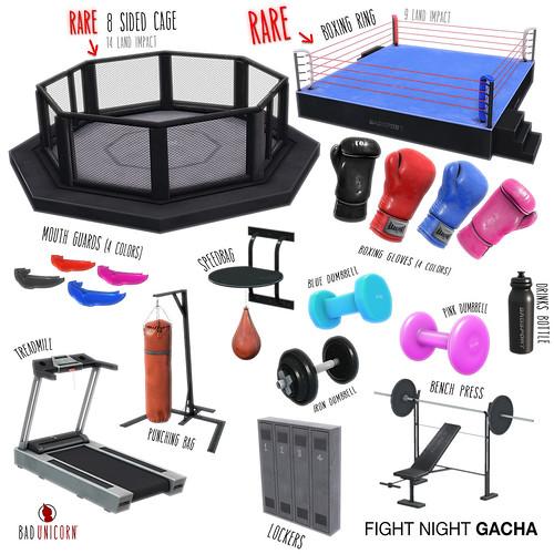 NEW! Fight Night Gacha @ Bad Unicorn Mainstore!!