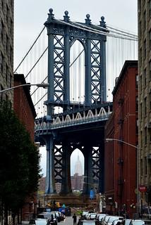 Manhattan Bridge and Empire State