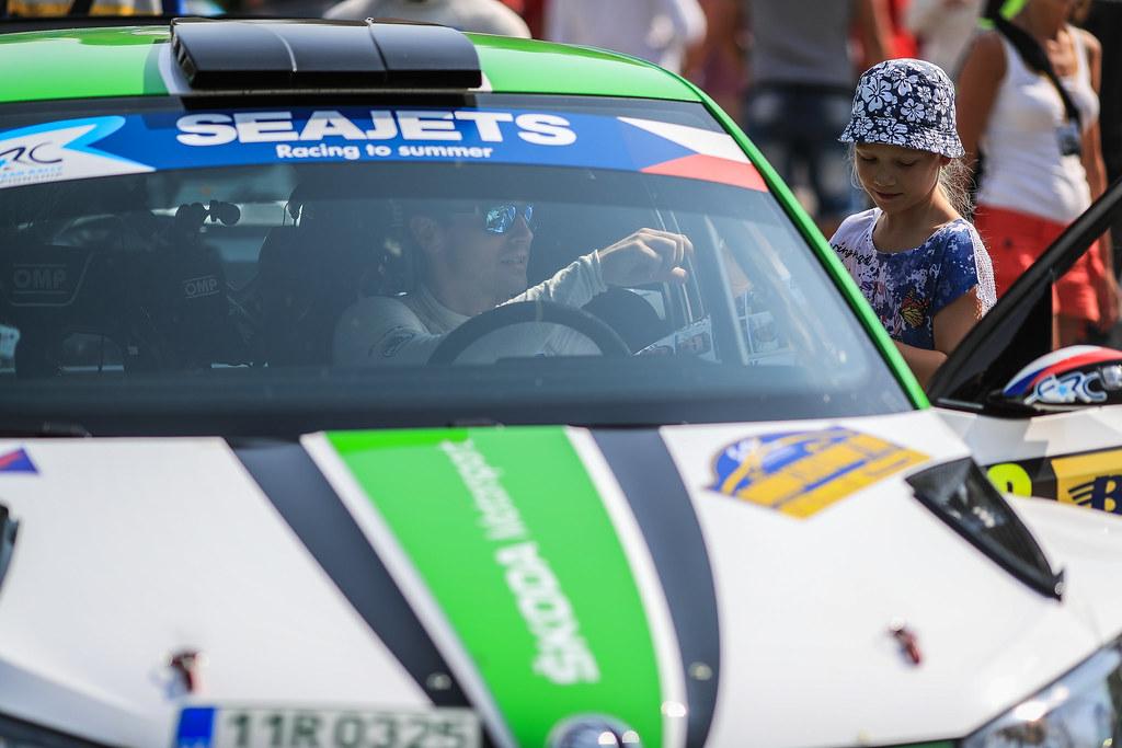 02 KOPECKY Jan (CZE) DRESLER Pavel  (CZE) Skoda Fabia R5 Ambience portrait during the 2017 European Rally Championship ERC Barum rally,  from August 25 to 27, at Zlin, Czech Republic - Photo Jorge Cunha / DPPI