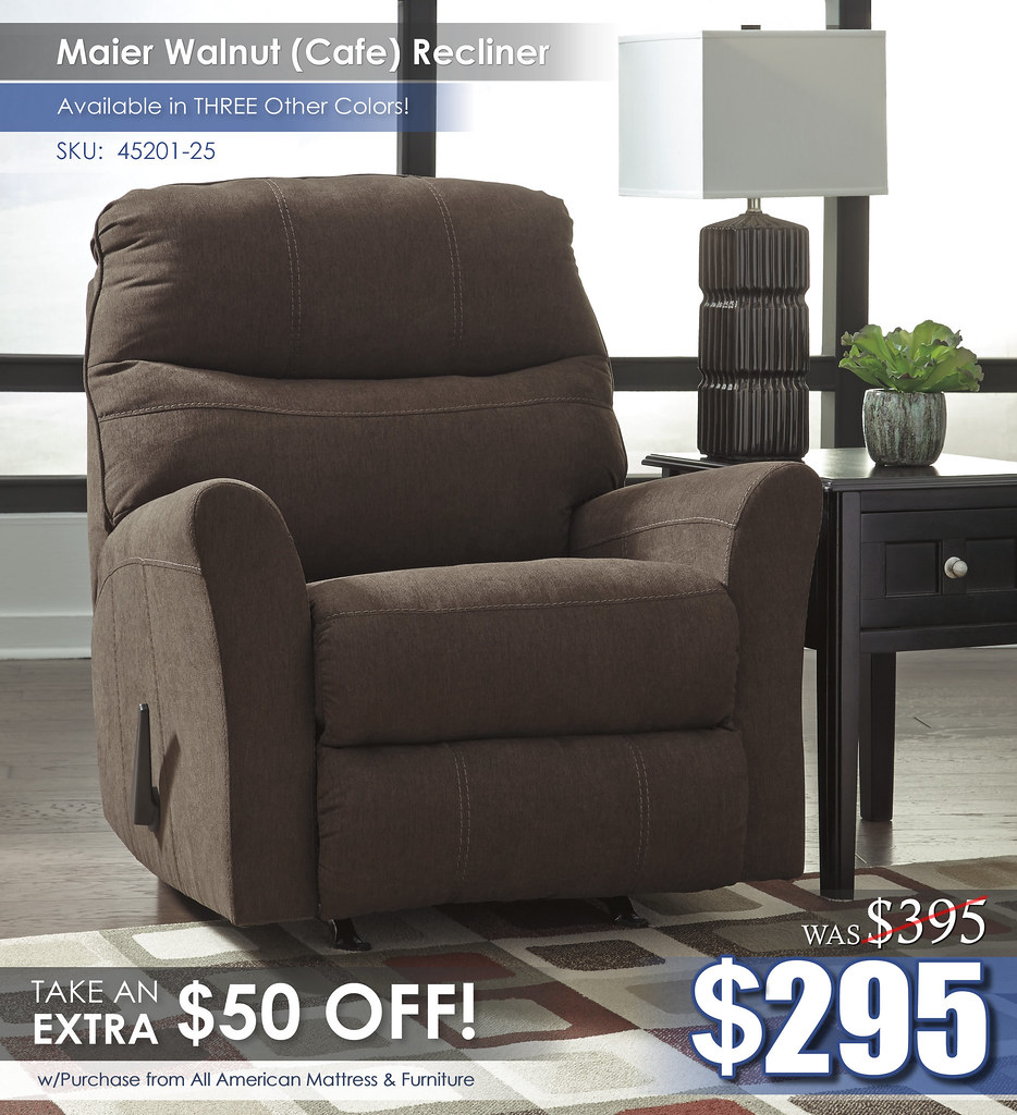 Maier Walnut Recliner 45201