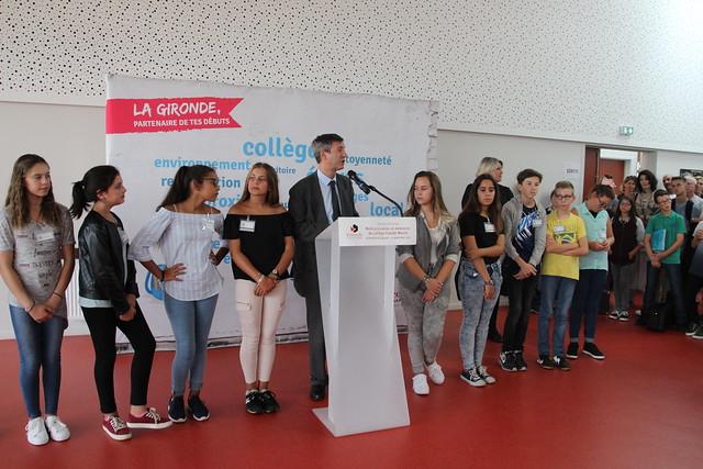 Inauguration de la restructuration et de l'extension du collège Claude Massé à Ambarès-et-Lagrave