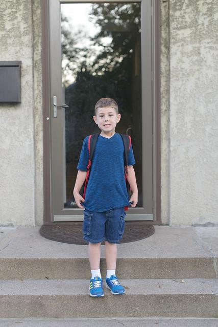 Isaac first day Kindergarten-1