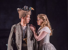 Siobhan Stagg as Pamina and Roderick Williams as Papageno In Die Zauberflöte, The Royal Opera Season 2017/18 © ROH 2017. Photograph by Tristram Kenton.