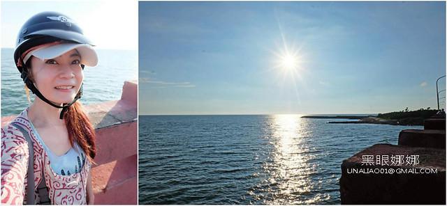 台南景點海邊夕陽