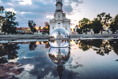Autumn Sunset | Kaunas Town Hall | #GlassBallProject #262/365