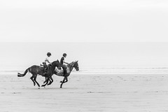 Horse riding on Banna Beach