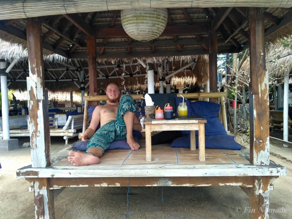 Gili air beach restaurant