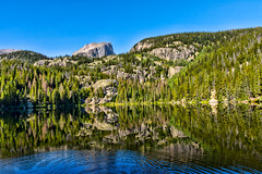blue ripples in Bear Lake reflection