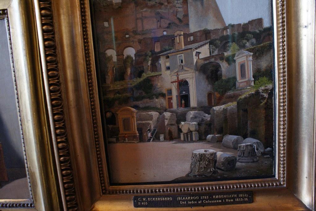 Peinture du Colisée à Rome au Thorvaldsen Museum de Copenhague