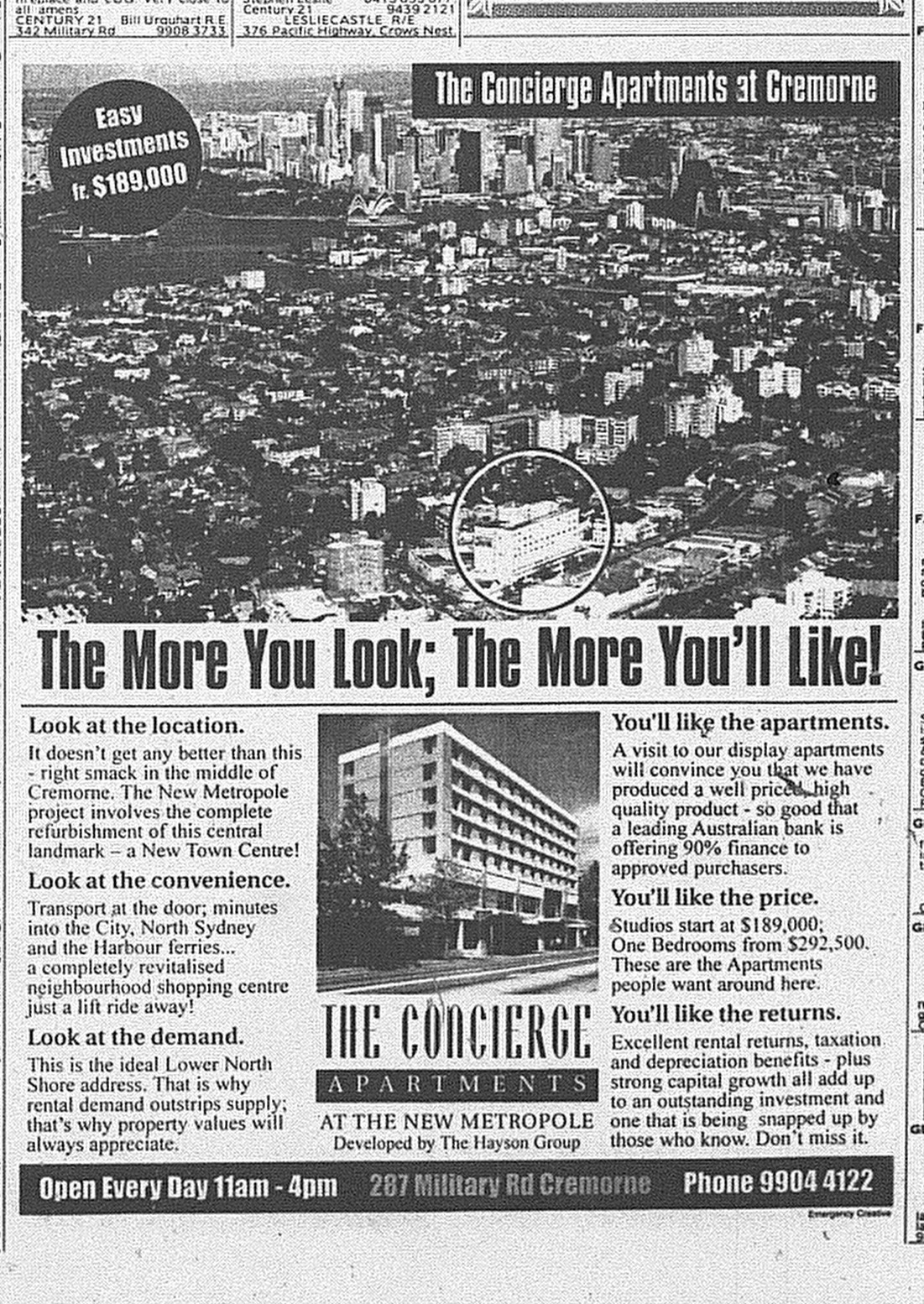 The Concierge Apartments Cremorne June 5 1999 SMH 10RE