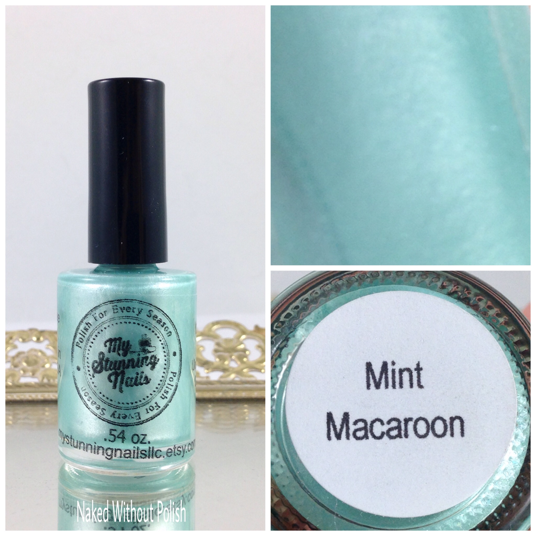 My-Stunning-Nails-Mint-Macaroon-1
