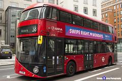 Wrightbus NRM NBFL - LTZ 1196 - LT196 - Victoria 38 - Arriva - London 2017 - Steven Gray - IMG_1235