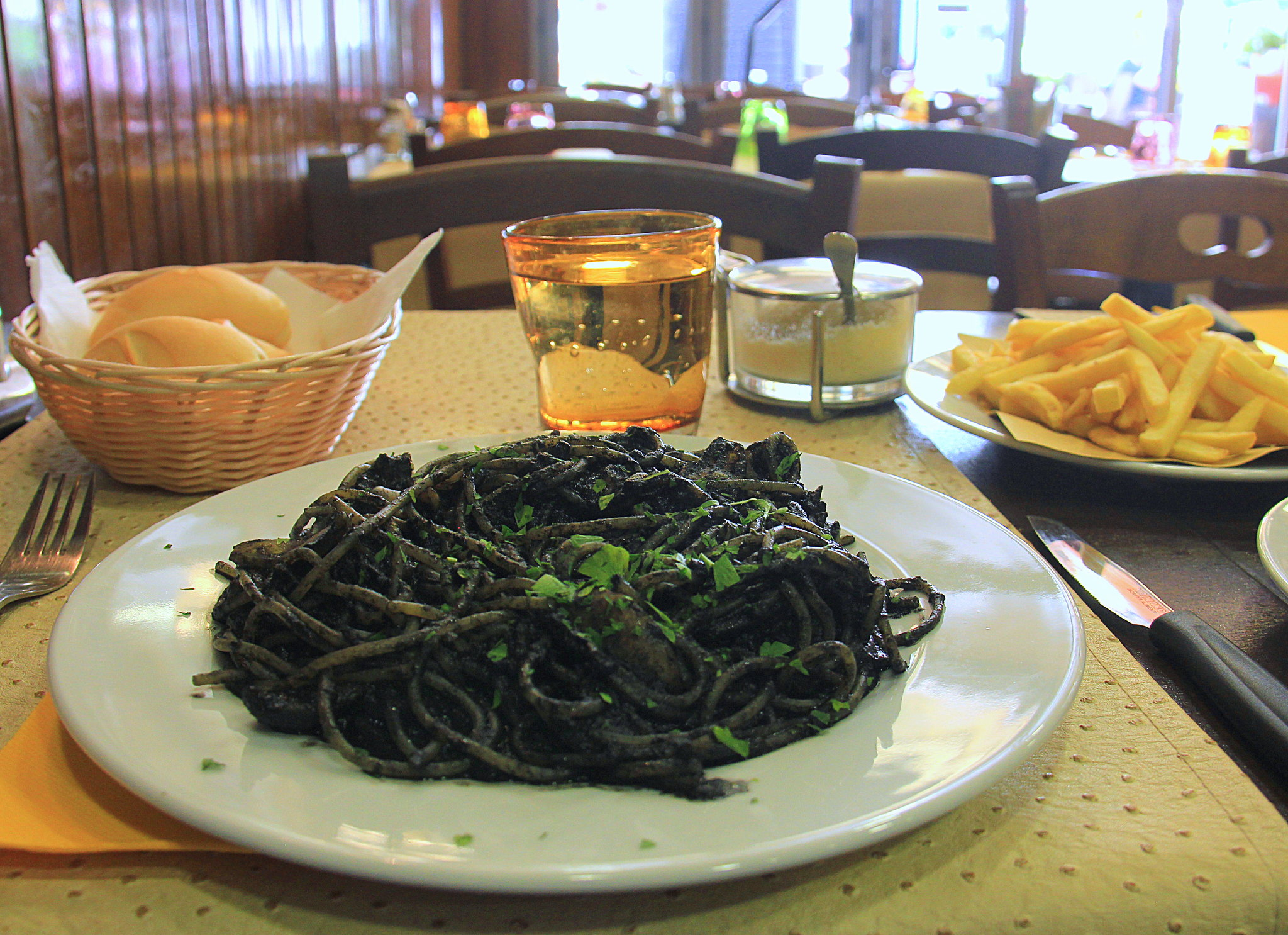 Try the squid ink pasta on your Venice trip
