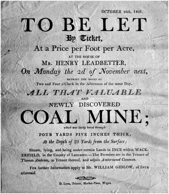 Ince coal lease, Wigan 1805