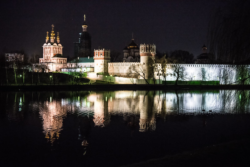 Novodevichy Convent night