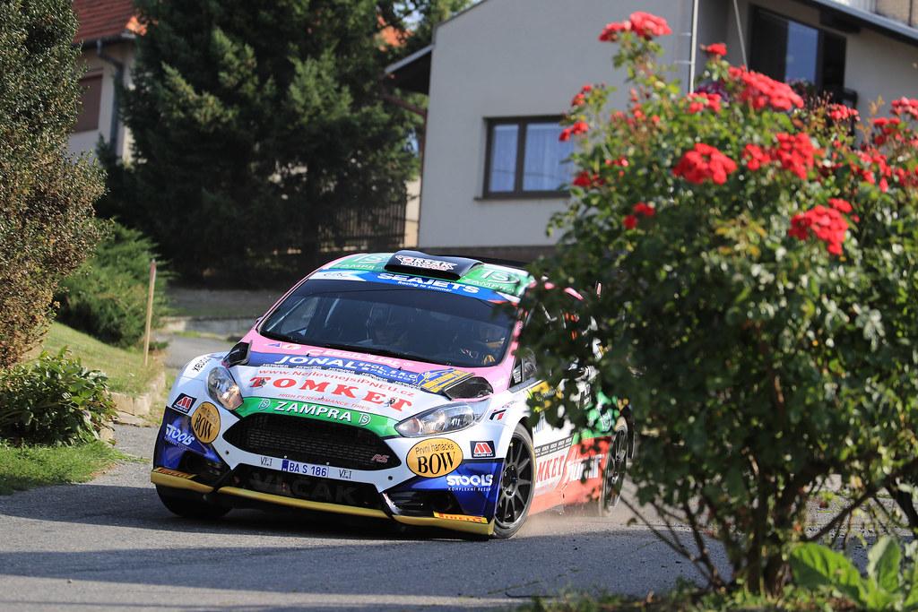 24 VLCEK Marctin (CZE) ZAKOVA Jindriska (CZE) ) Ford Fiesta R5 action during the 2017 European Rally Championship ERC Barum rally,  from August 25 to 27, at Zlin, Czech Republic - Photo Jorge Cunha / DPPI