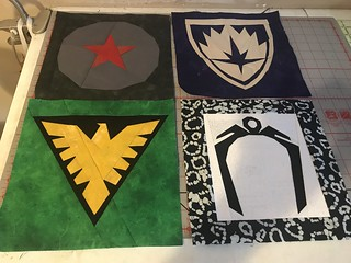 Superheroes: Winter soldier, Nova Corps, Jean Grey, Storm