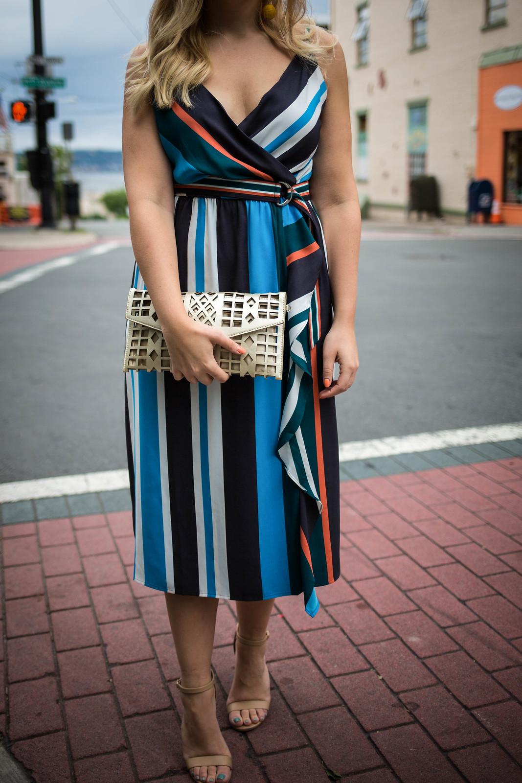 The Best Dresses for a Fall Wedding | Loft Skyline Wrap Dress Jackie Giardina