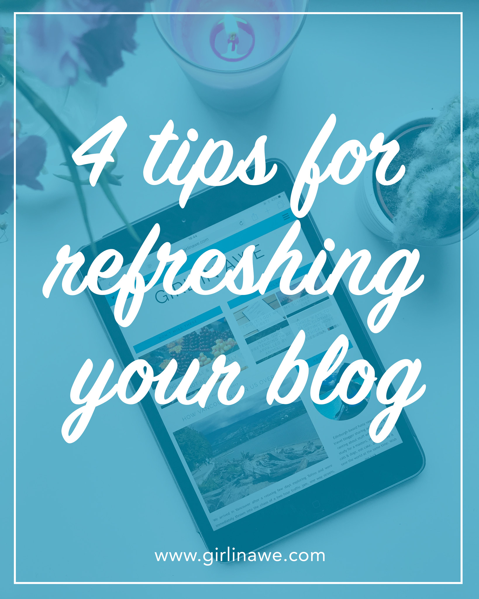 Four tips for refreshing your blog