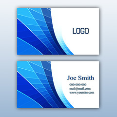 dynamic business card template with simple user interface