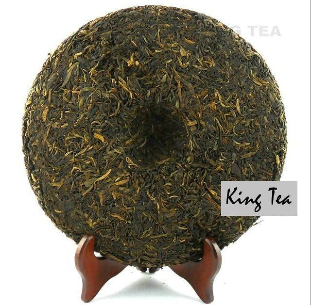 Free Shipping 2010 ShuangJiang MENGKU IceLand Spring Leaf Cake 1000g China YunNan MengHai Chinese Puer Puerh Raw Tea Sheng Cha