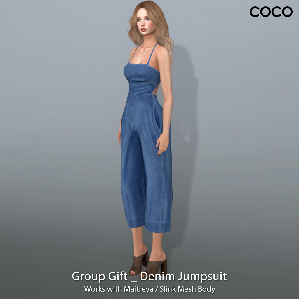 COCO_GroupGift_DenimJumpsuit - SecondLifeHub.com