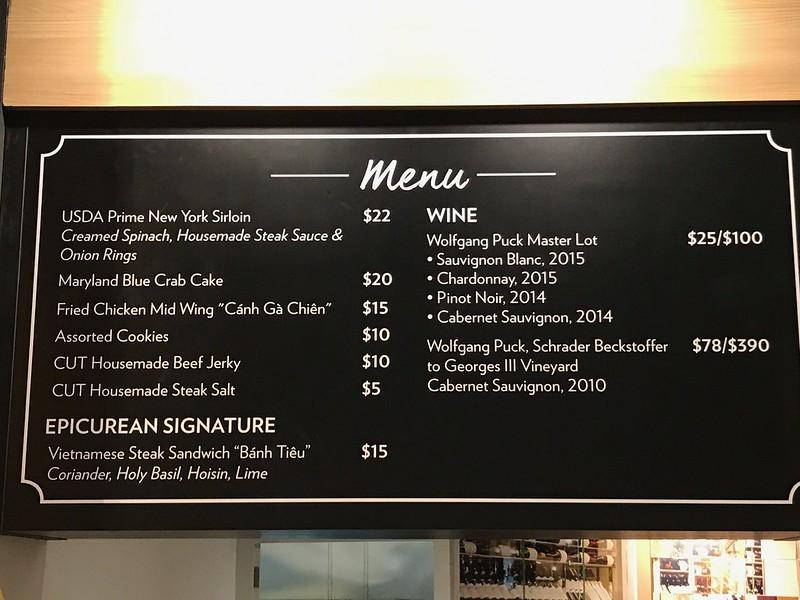 CUT menu