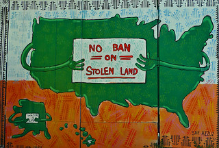 Mural in the City - Clarion Alley No Ban On Stolen Land