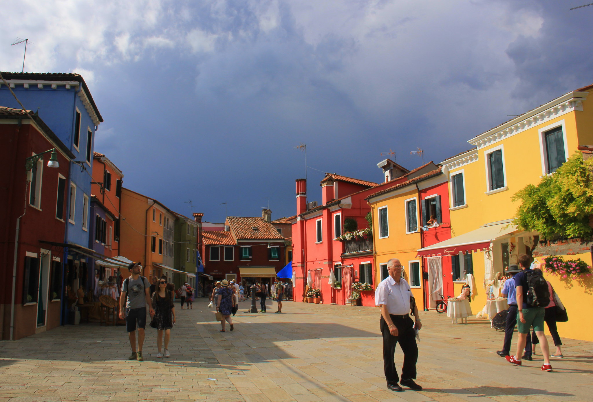 The Burano island is popular among tourists