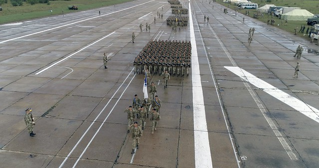 Пдготовка до військового параду з нагоди дня Незалежності України