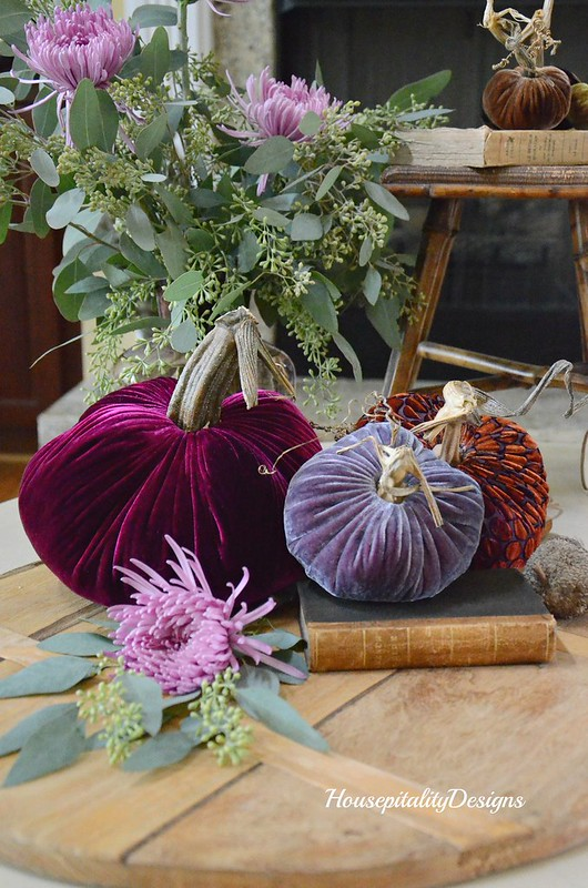 Velvet Pumpkin Vignette-Housepitality Designs