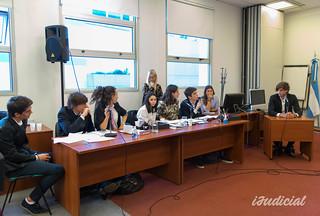 Simulacro de juicio oral con la jueza penal Martínez Vega