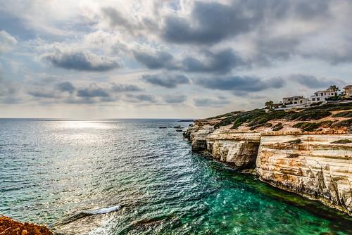 seacaves peyia cyprus sea villas seaview hdr