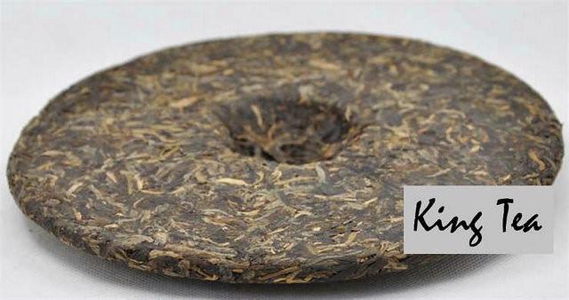 Free Shipping 2007 BoYou CaiFuGuangChang Cake 500g YunNanMengHai Chinese Puer Puerh Raw Tea Sheng Cha Slim Beauty Premium Weight Loss