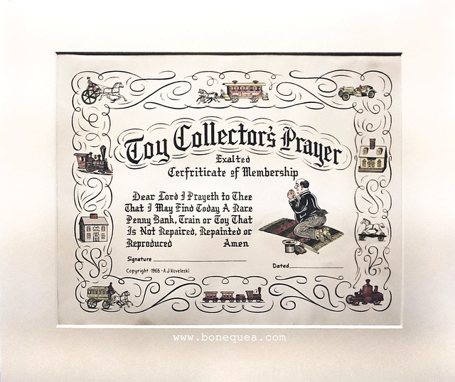 The Toy Collector's Prayer. Museum of Childhood, Edinburgh